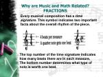 why are music and math related fractions