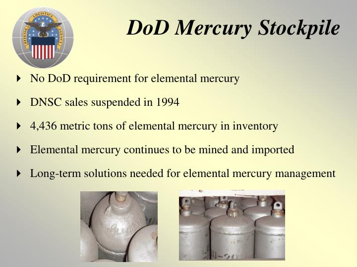 DoD Mercury Stockpile