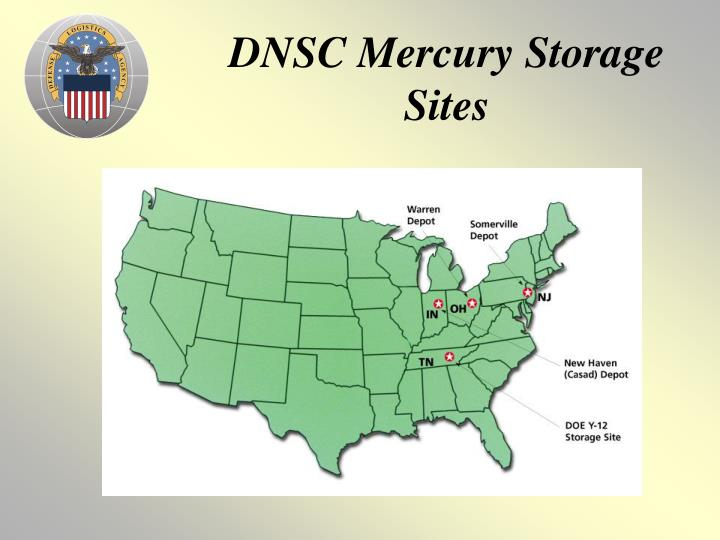 DNSC Mercury Storage Sites