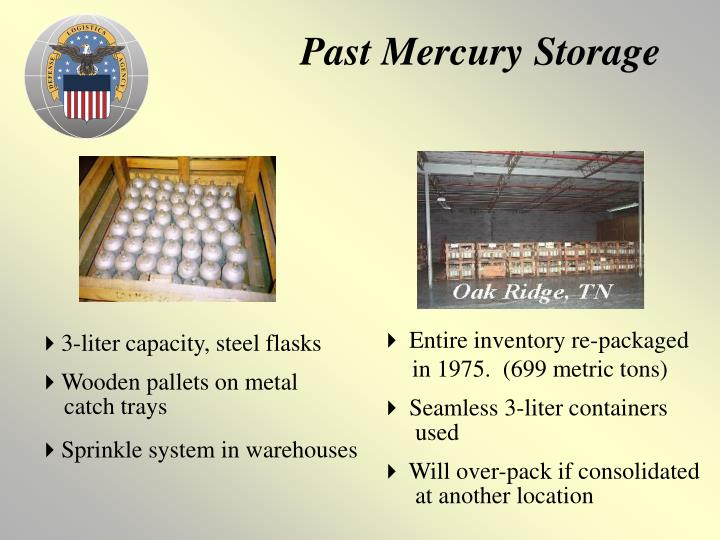 Past Mercury Storage