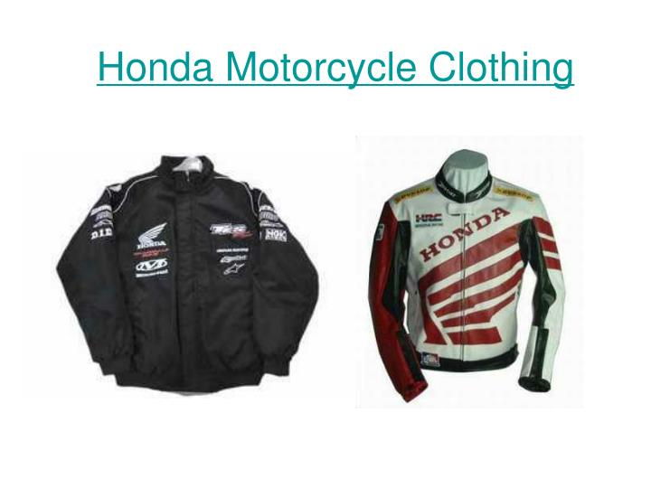 Honda motorcycle clothing
