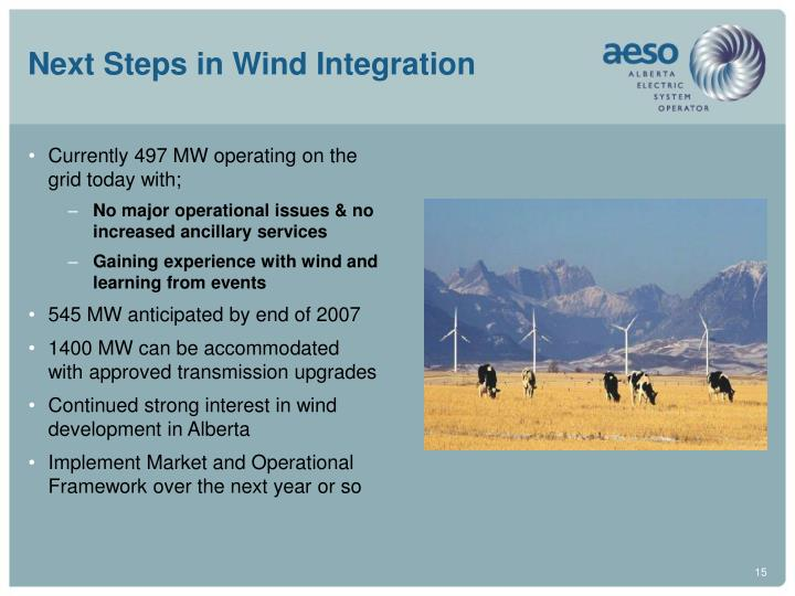 Next Steps in Wind Integration
