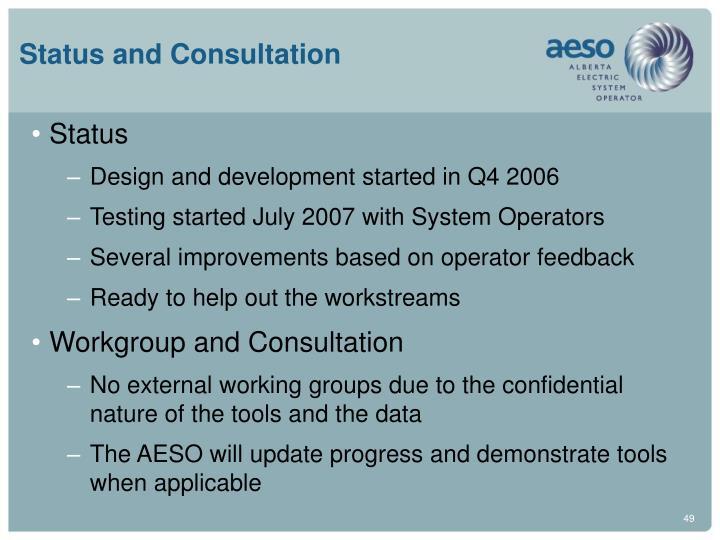 Status and Consultation