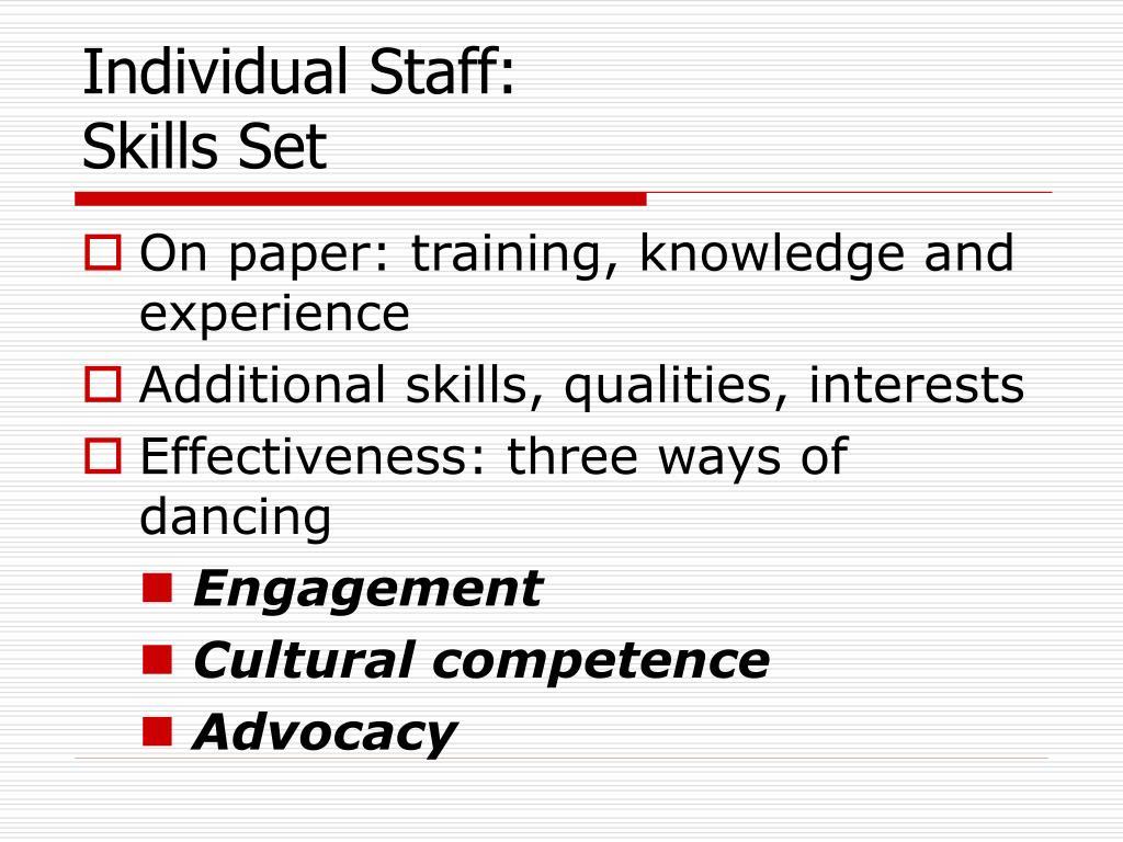 Individual Staff: