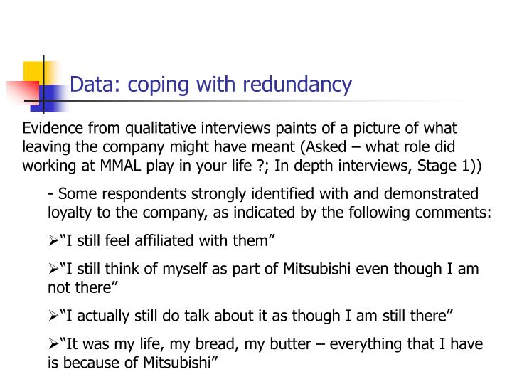 Data: coping with redundancy