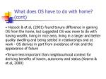 what does os have to do with home cont