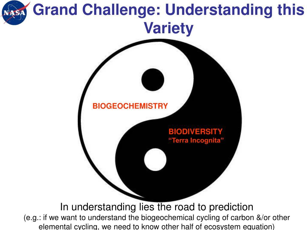 Grand Challenge: Understanding this Variety