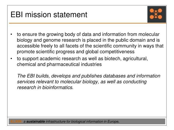 EBI mission statement