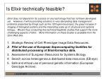 is elixir technically feasible