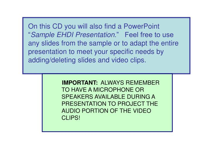 On this CD you will also find a PowerPoint ""