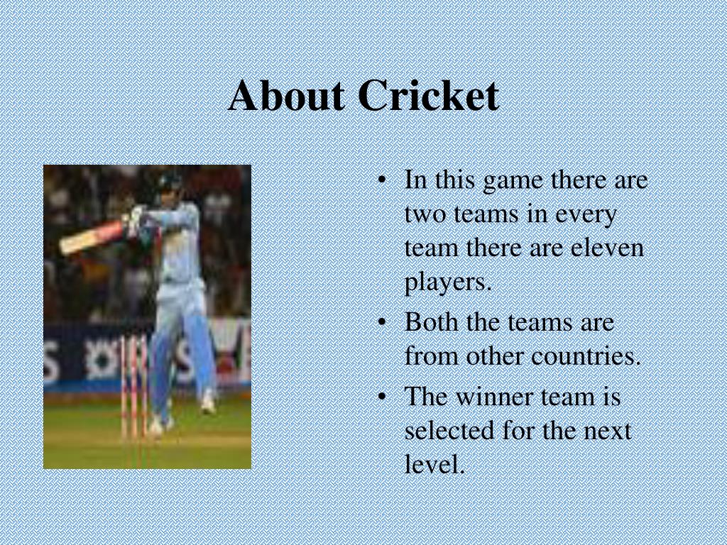 About Cricket
