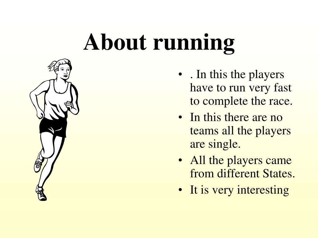 About running