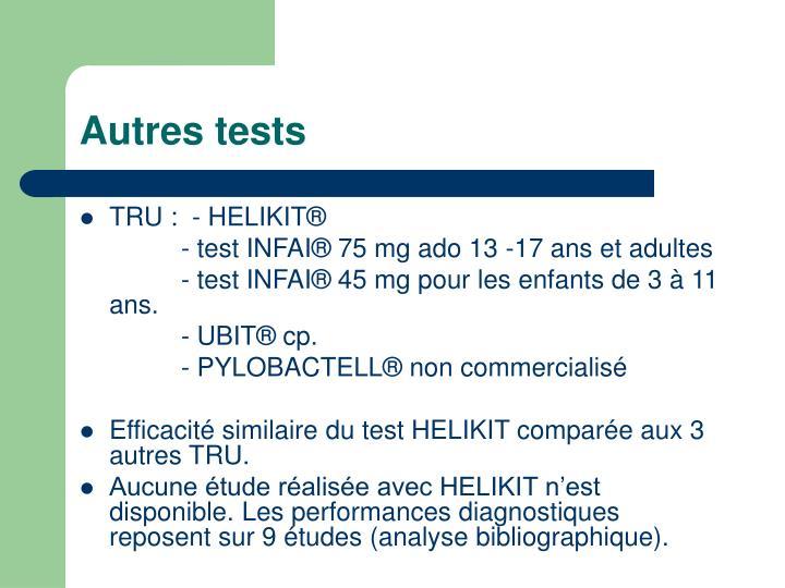 Autres tests
