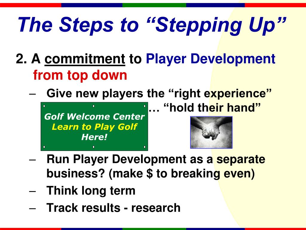 """The Steps to """"Stepping Up"""""""