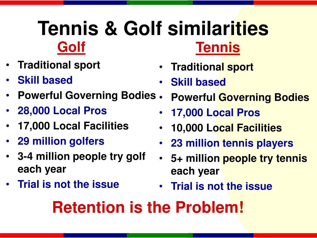 Tennis & Golf similarities