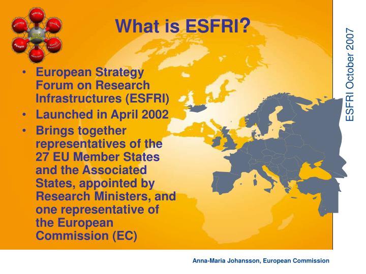 What is ESFRI
