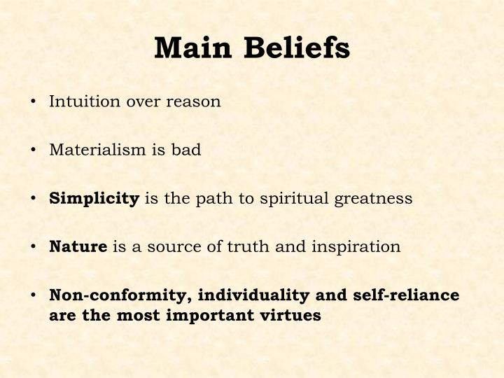 "emerson s self reliance beliefs of man Emerson's ideas on individualism and self trust  emerson was influenced by beliefs of  ""self reliance"" by ralph waldo emerson."