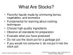 what are stocks
