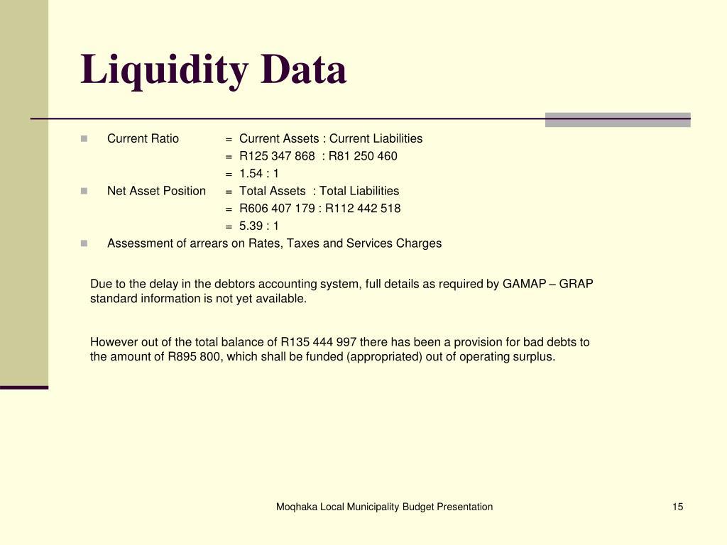 Liquidity Data