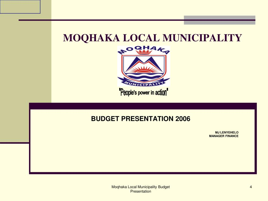 MOQHAKA LOCAL MUNICIPALITY