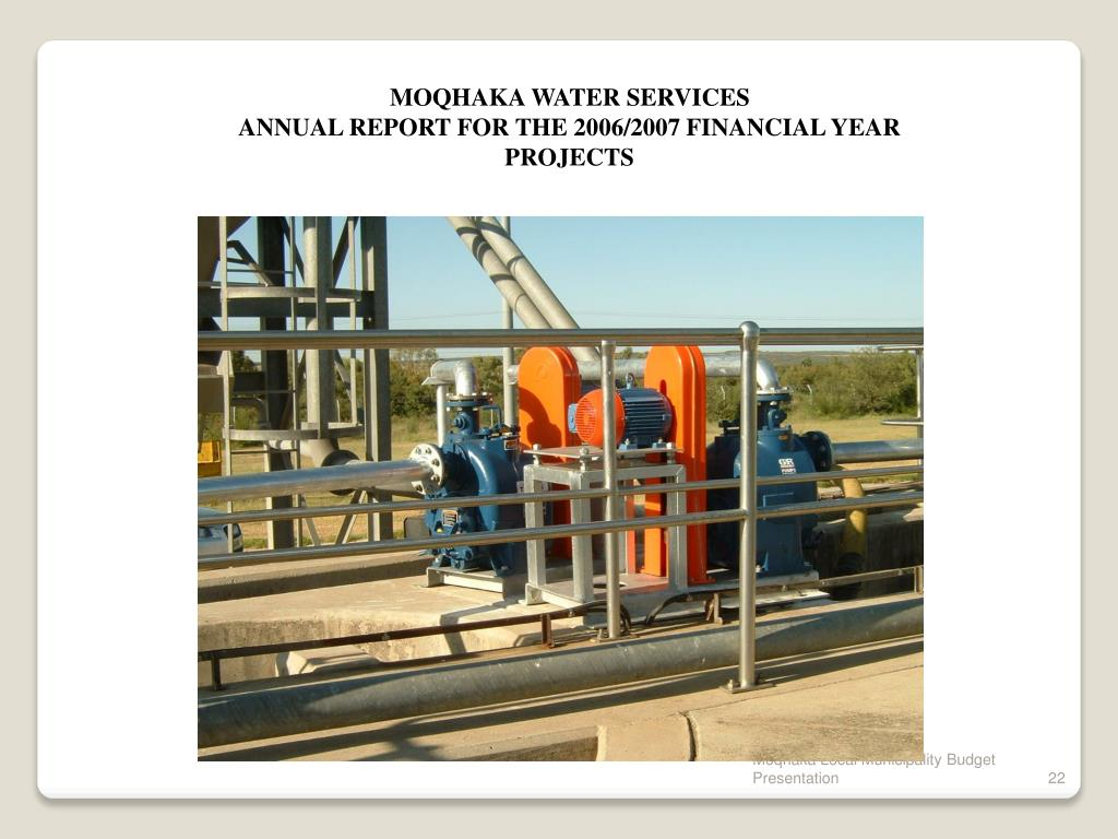MOQHAKA WATER SERVICES