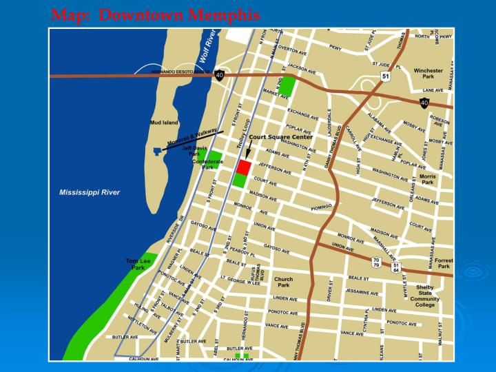 Map:  Downtown