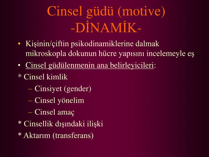Cinsel gd (motive)