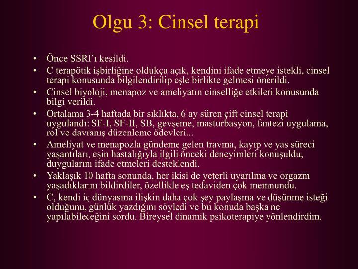 Olgu 3: Cinsel terapi