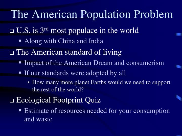 The American Population Problem
