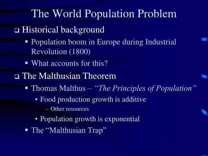 The World Population Problem