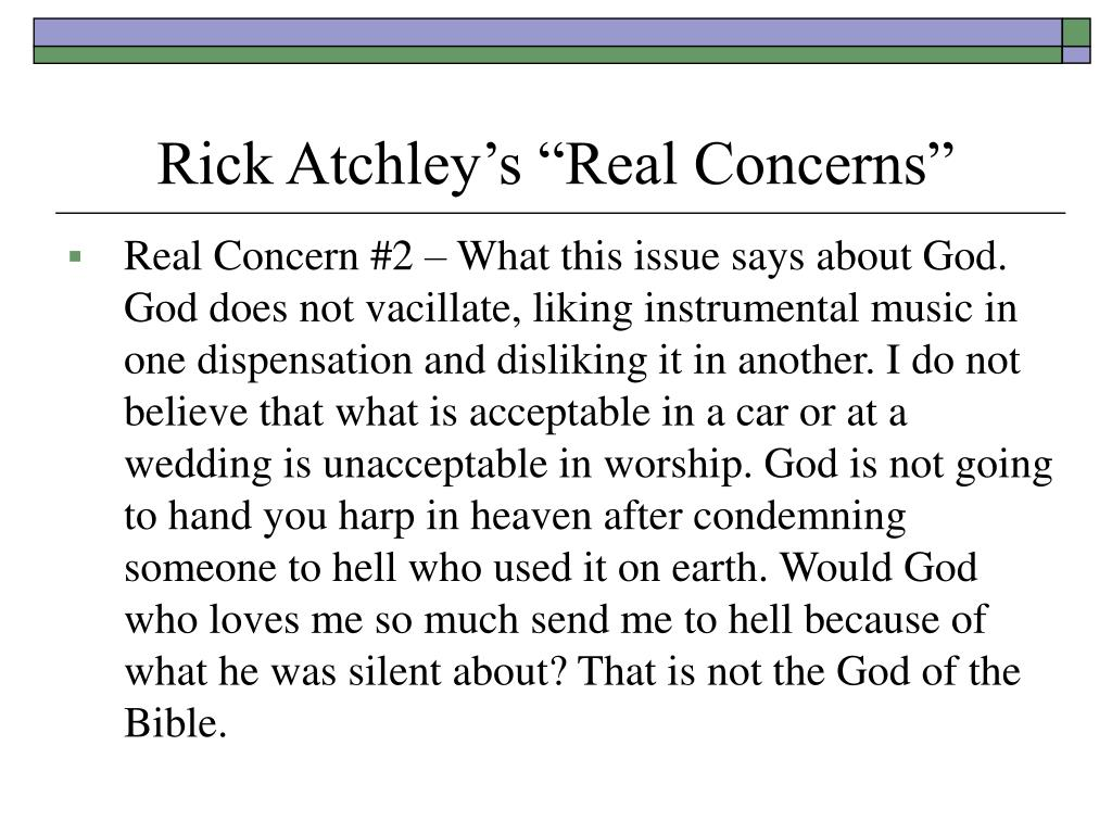 """Rick Atchley's """"Real Concerns"""""""