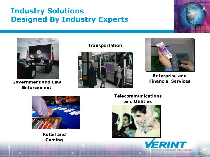 Industry solutions designed by industry experts