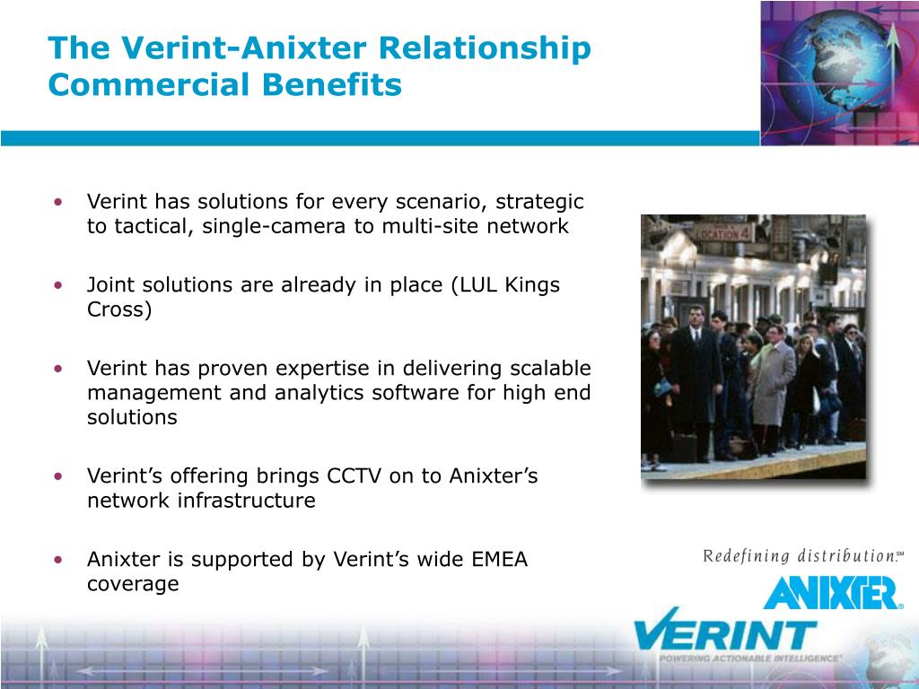The Verint-Anixter Relationship Commercial Benefits