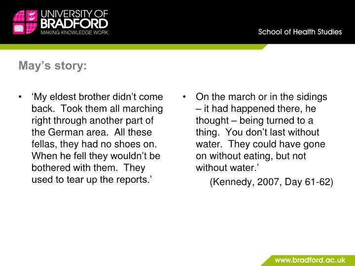 May's story:
