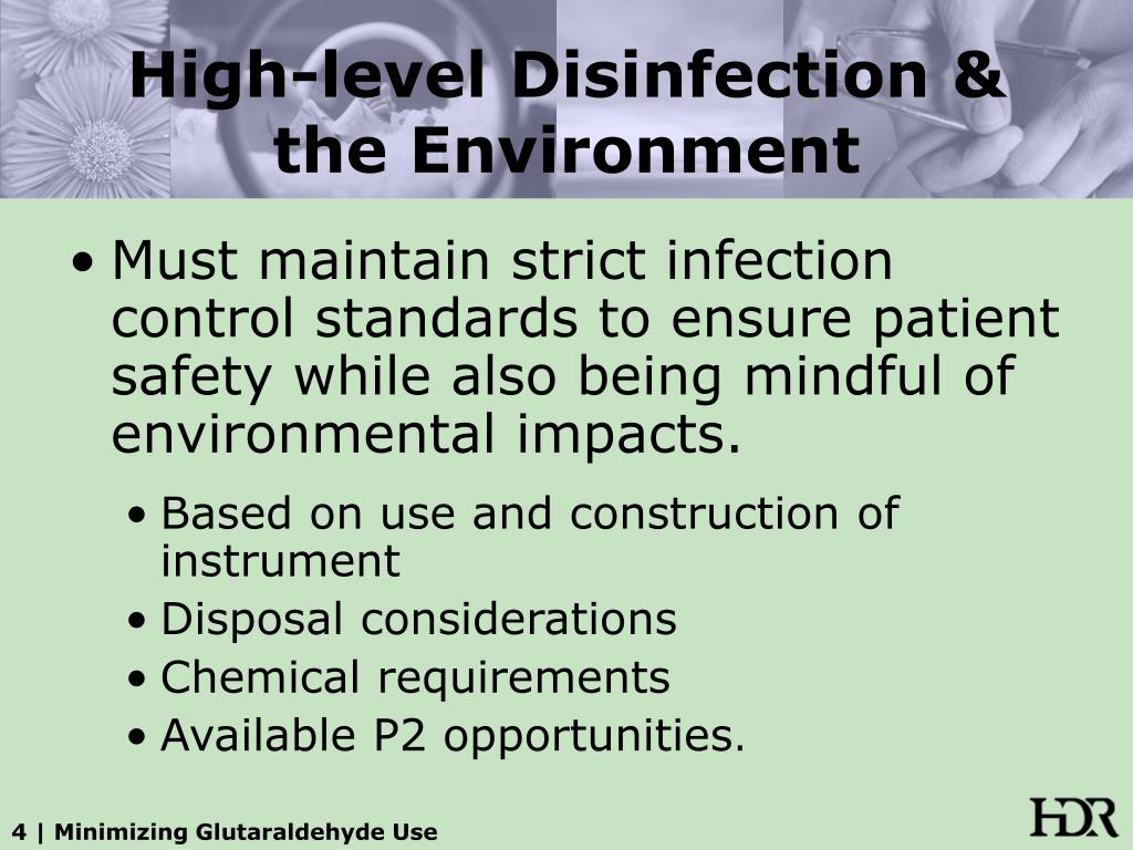 High-level Disinfection & the Environment