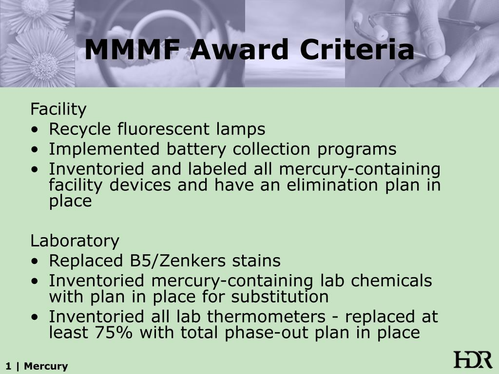 MMMF Award Criteria