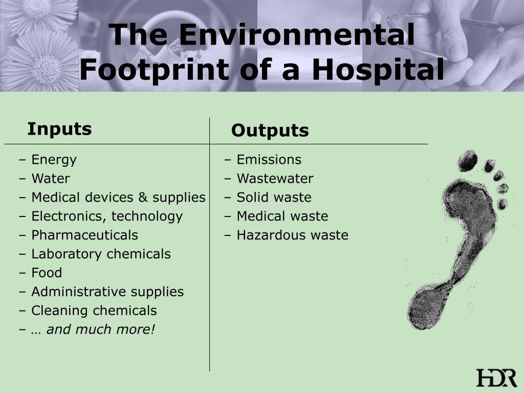 The Environmental Footprint of a Hospital
