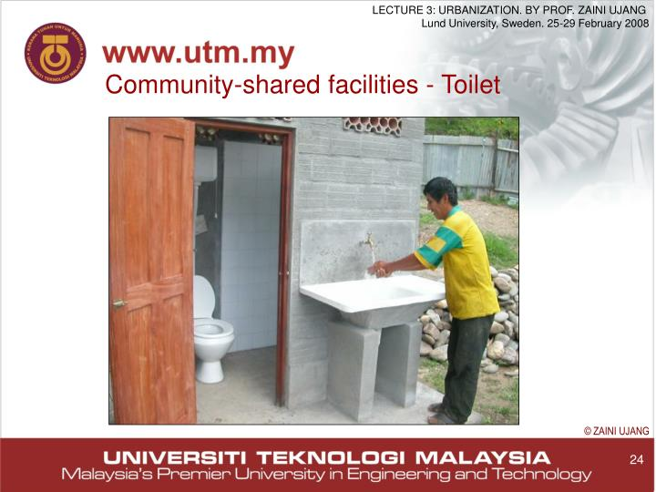 Community-shared facilities - Toilet