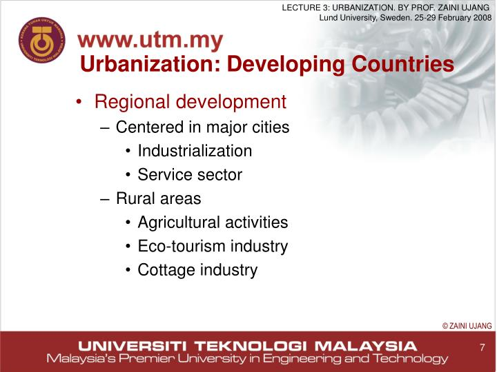 Urbanization: Developing Countries