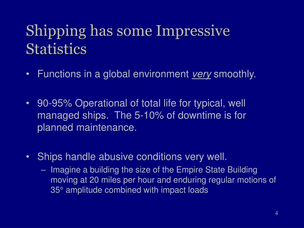 Shipping has some Impressive Statistics
