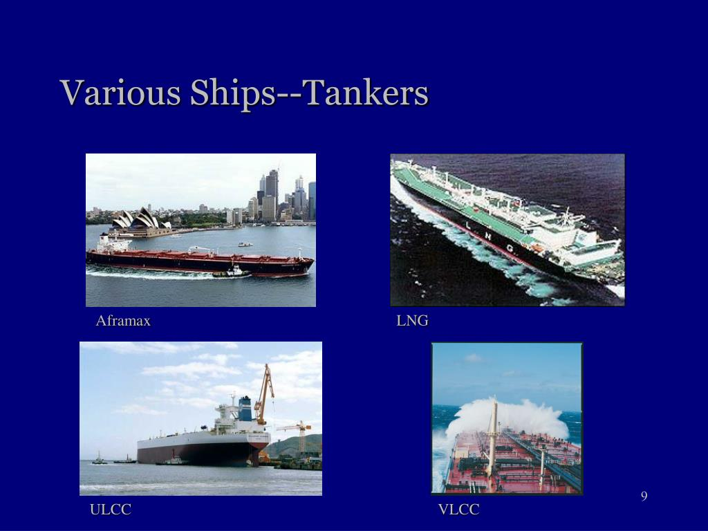 Various Ships--Tankers