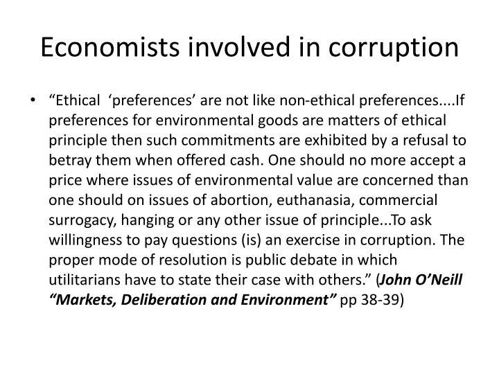 Economists involved in corruption