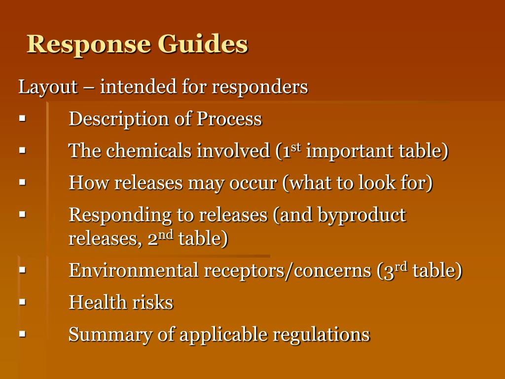 Response Guides