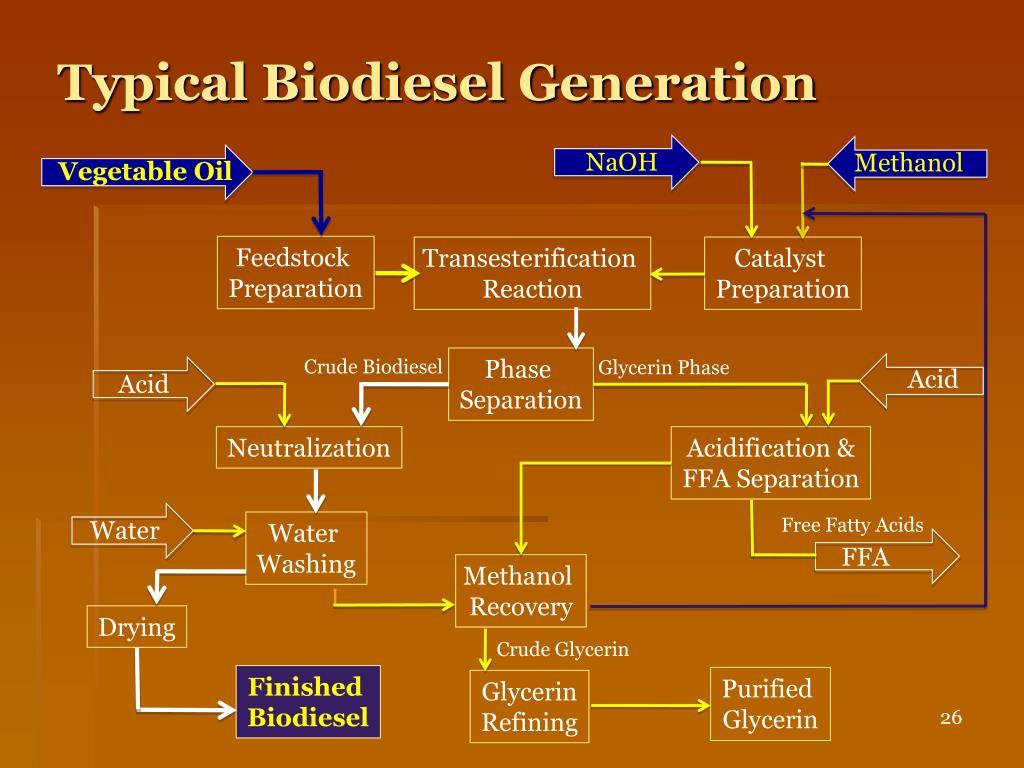 Typical Biodiesel Generation