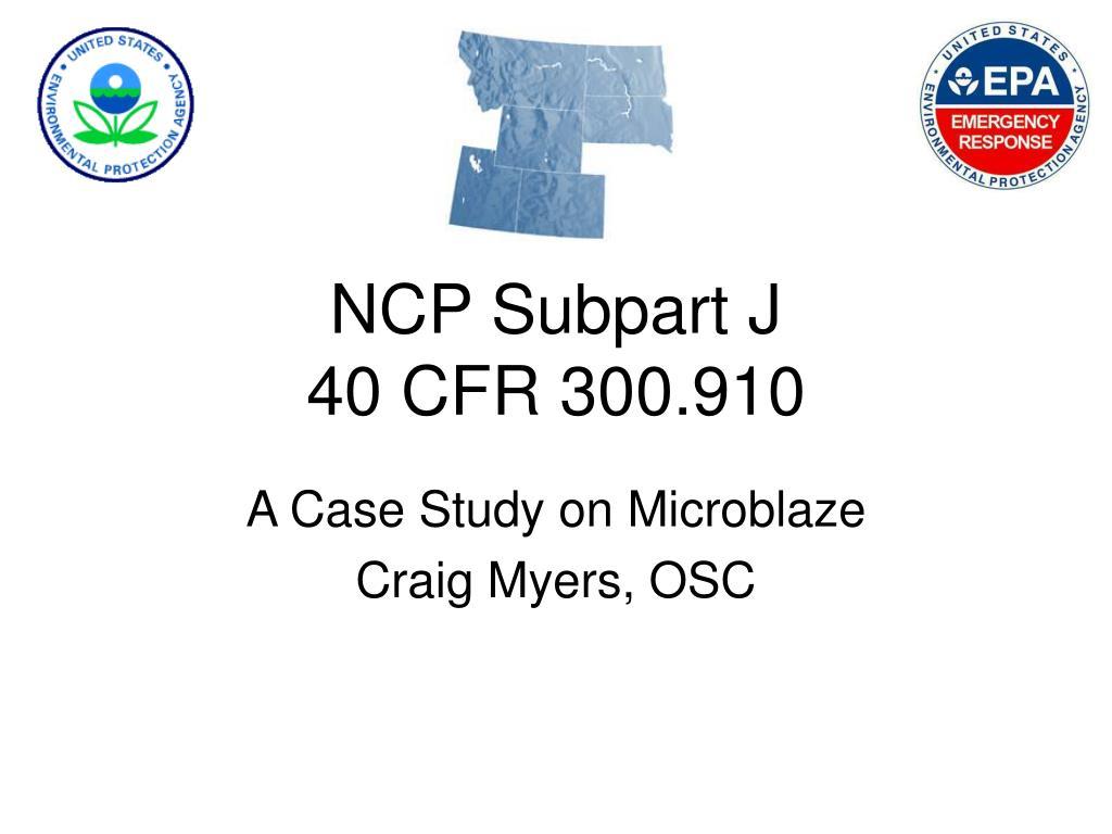 NCP Subpart J