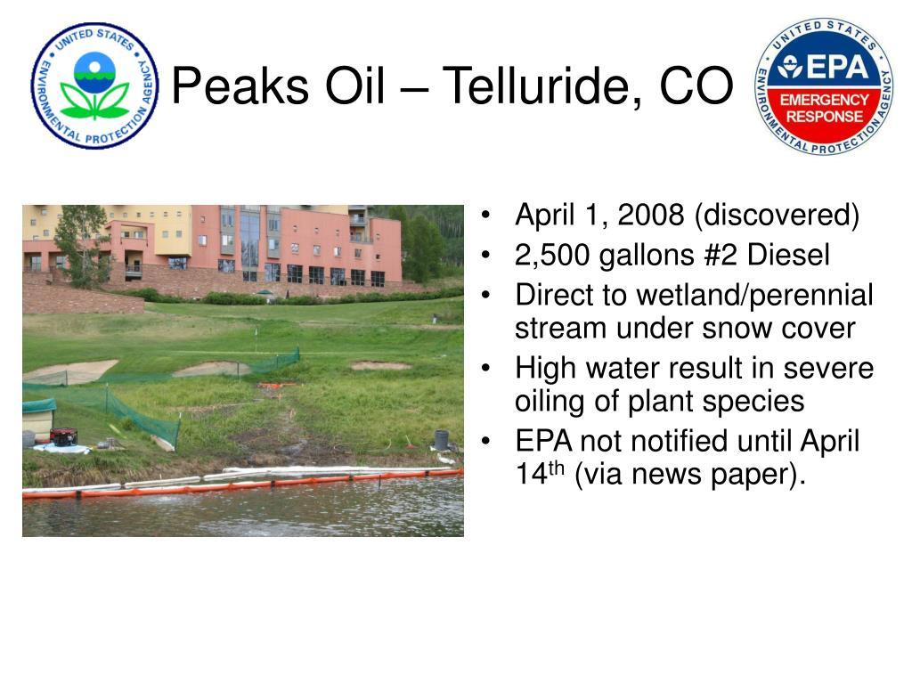 Peaks Oil – Telluride, CO