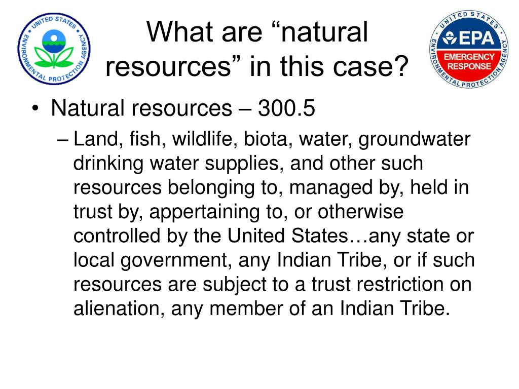 """What are """"natural resources"""" in this case?"""