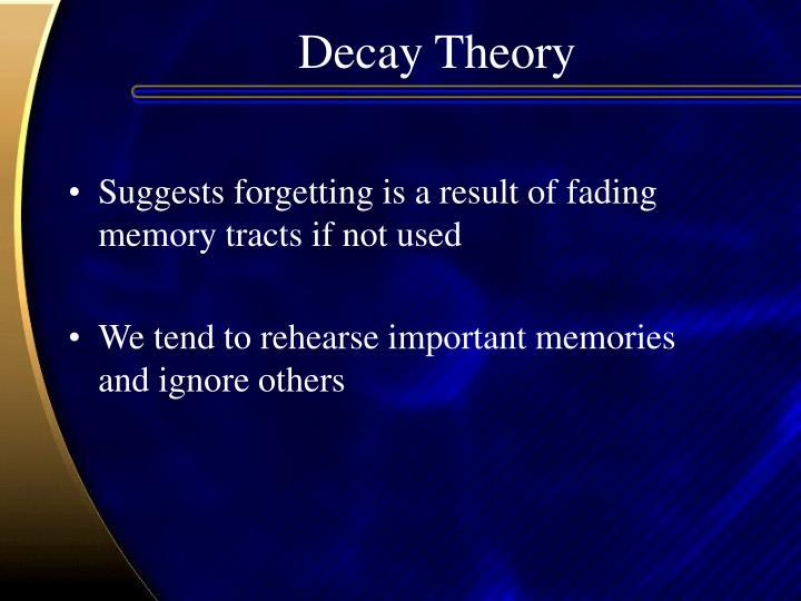 Decay Theory