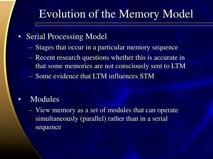 Evolution of the Memory Model