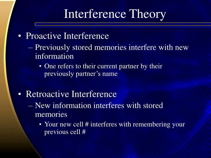Interference Theory